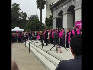 Sacramento Congressman Ami Bera takes the stand to speak at the IStandWithPP Pink Out