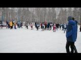 финальный забег девушки 1999-2000 г.р. - 6 этап Кубка городов по лыжным гонкам