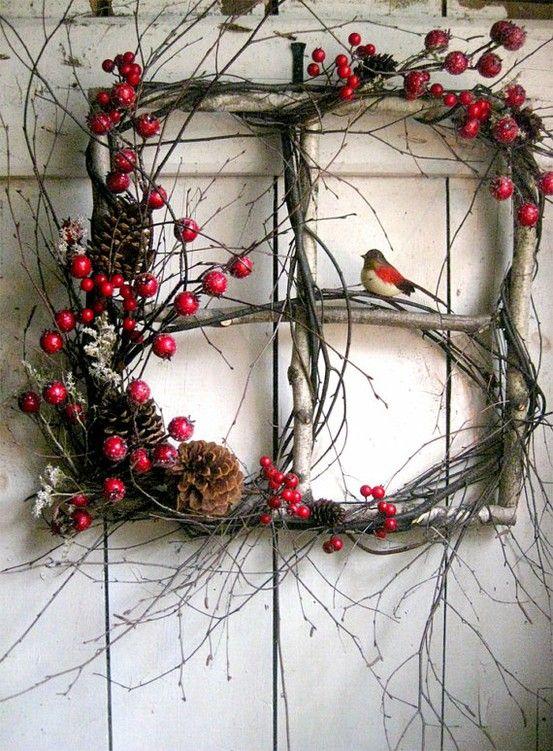необычный рождественский венок