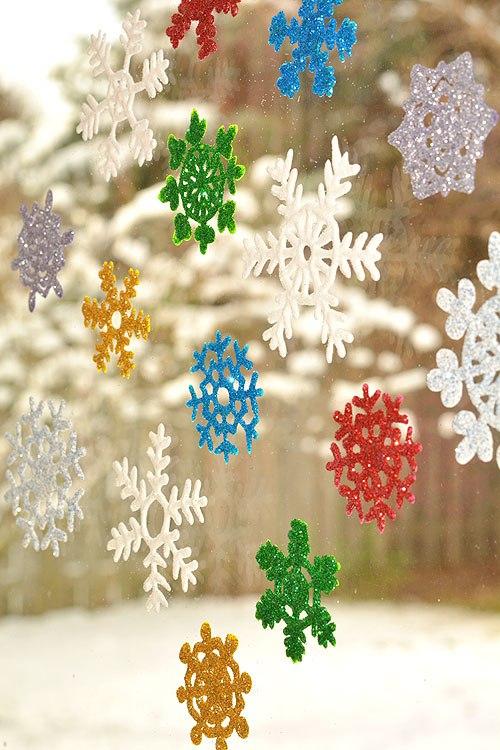 снежинки из клея пва