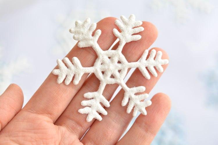 как сделать снежинки из клея пва