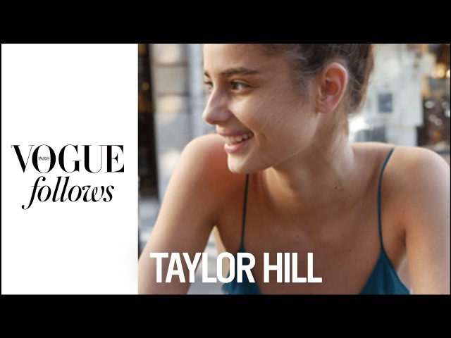 Taylor Hill exercises anywhere, anytime   VOGUE PARIS