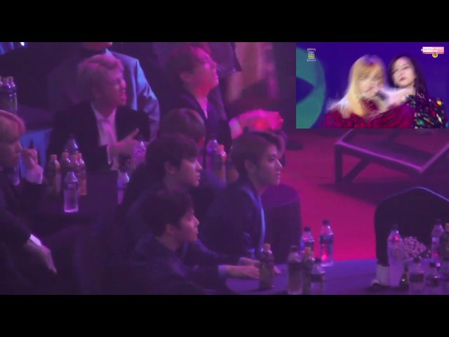 EXO BTS reaction to BLACKPINK @ SMA