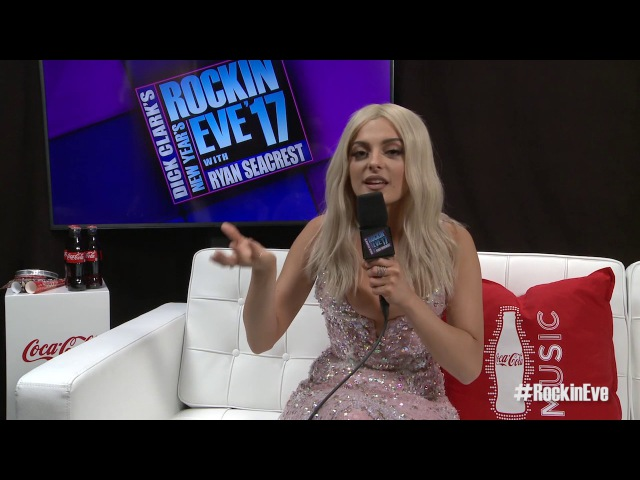 Bebe Rexha: Celebrity New Years Eve Kiss - NYRE 2017