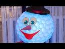 Снеговик из пластиковых стаканов DIY Snowman of cups Holidays