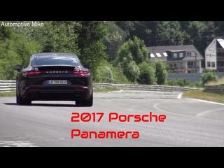 2017 Porsche Panamera Diesel testing at the Nurburgring