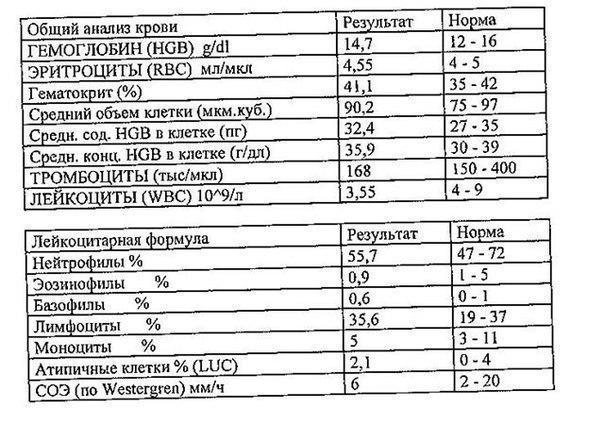 Luc анализ крови Медицинская книжка Планерная