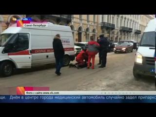 В Петербурге полицейские пресекли попытку нападения с ножом на водителя скорой помощи