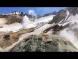 Fumarolic activity in the crater of Mutnovsky volcano