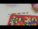 Мое самое любимое упражнение с мозаикой для детей от 2,5-3 до 5 лет. Ребенку на видео 3 года. узнайкаклучшедляребенка раннеера