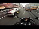 Интенсивный прохват на мотоцикле под музыку 4к Yamaha r1 triumph street triple