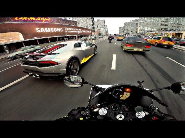 Интенсивный прохват на мотоцикле под музыку 4к || Yamaha r1 triumph street triple