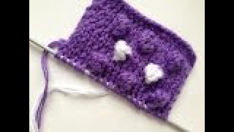 Вязание спицами. Узор Шишечки. Knitting cones.