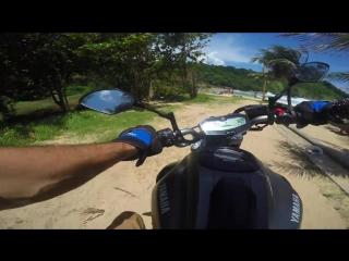 Crazy ride Yamaha MT-07 in Thailand 4K