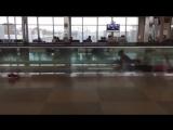 Когда в аэропорту нет бассейна а тренировки пропускать  не хочется :)