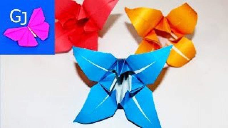Оригами из бумаги ЦВЕТОК ЛИЛИЯ