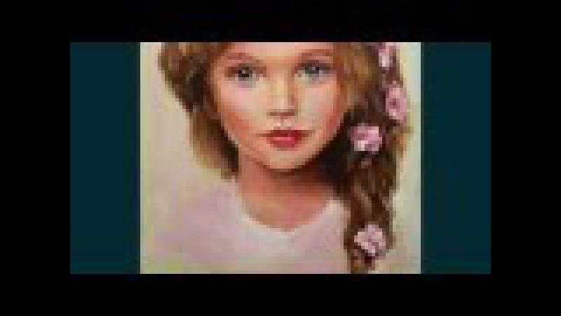 Портрет маслом Анны Павага, мастер-класс, алла прима, основы портрета / Oil portrait Anna...