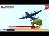 Aviones c-130 hercules brasileño y ilyushin il-76 ruso combaten el fuego en dichato y portezuelo