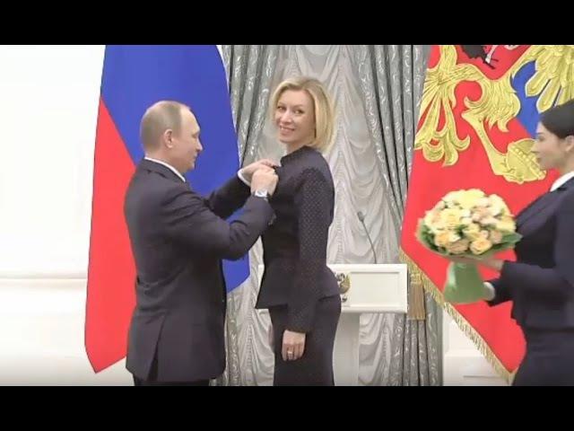 When Vladimir Met Maria: Putin Awards Russian diplomat Zakharova with the Order of Friendship