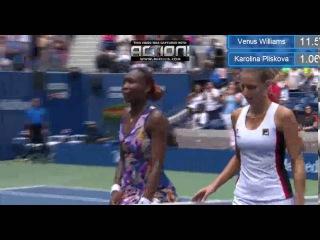 Karolina Pliskova Match Points VS Venus Williams - US Open(05.09.2016)
