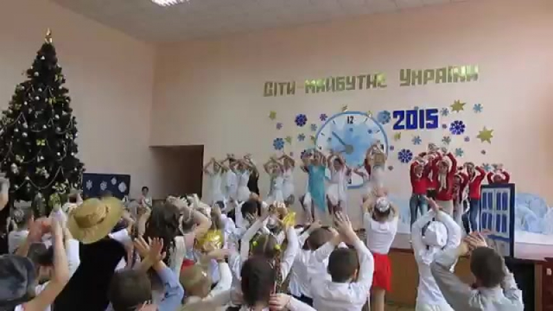 новогодний танцевальный флешмоб