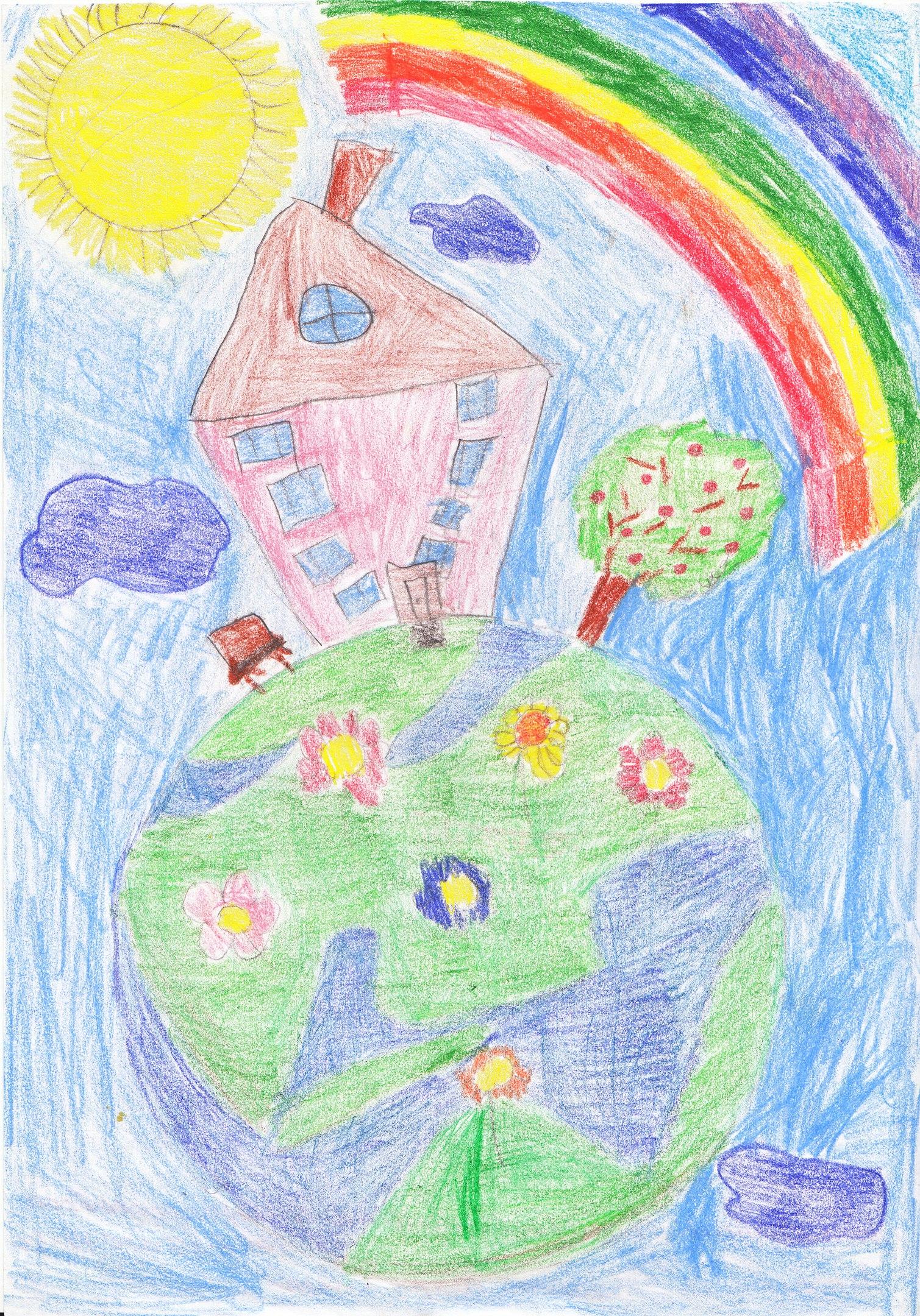 Картинки земля наш дом для срисовки