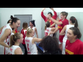 Slavlje košarkašica Crne Gore nakon plasmana na Eurobasket