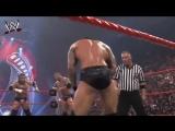 Batista vs Triple H vs Shane McMahon vs Randy Orton full match HHH Almost died