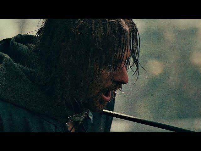 Арагорн против Луртца. Смерть Боромира. Прощальная речь Боромира. Властелин колец: Братство кольца.