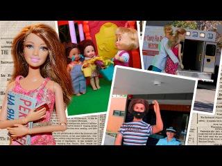 Маша отбирает игрушки у детей?! У Няни синяки?! Мама Барби, Маша и Медведь