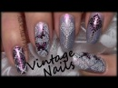 Vintage Butterfly Nail Art Design / Romantic Stamping Nails
