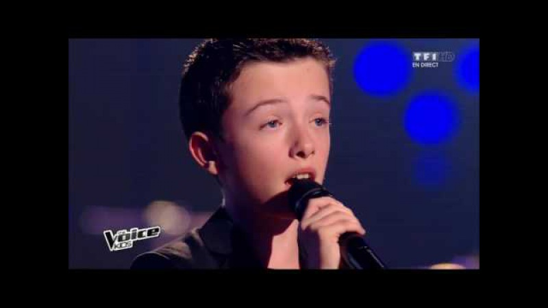The Voice Kids 2015 | Lisandru - Que tu reviennes (Patrick Fiori) | Finale