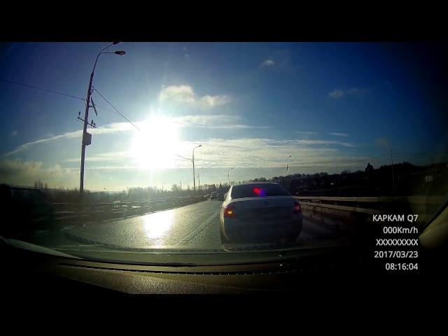 2017-03-23. Бесединский мост через МКАД. Поспешил - людей насмешил.