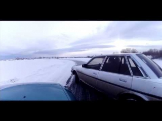Покатухи на замерзшем озере Песчанка