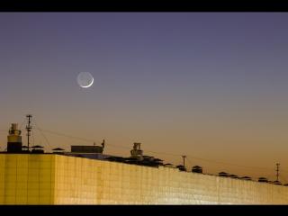 Пепельный свет Луны. 29 января 2017.