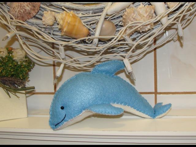 DIY- DELFIN EN FIELTRO / Felt dolphin plush toy