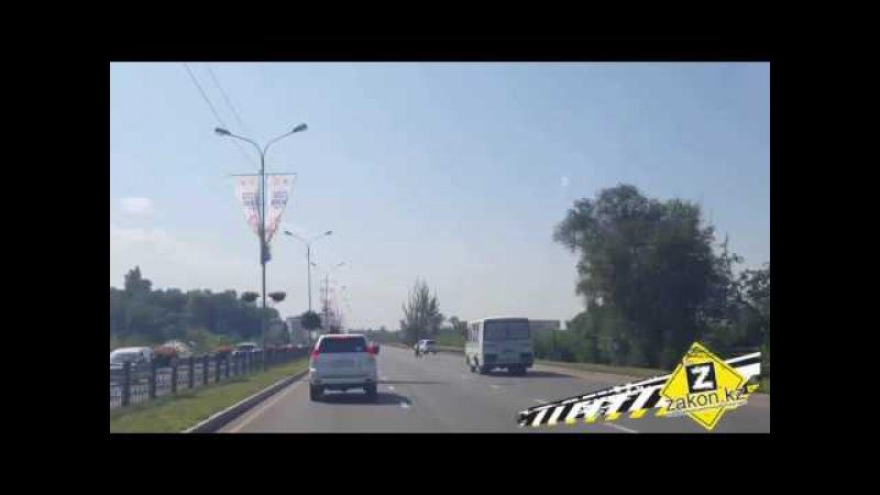 Как в Алматы пропускают скорые, отработка совместно с ДПП
