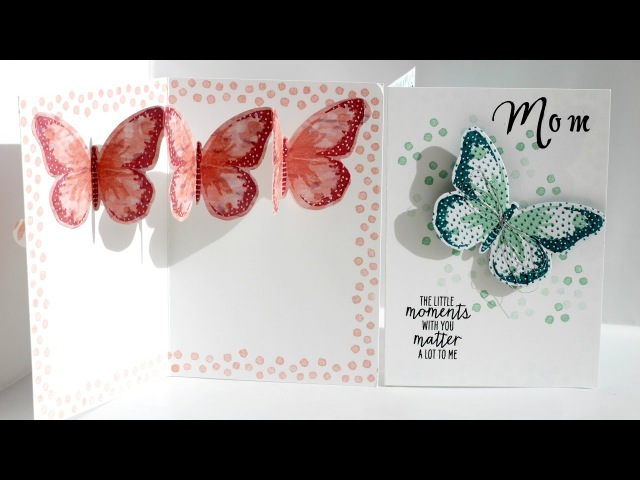 Pop Up Mother's Day Card, Watercolour Wings from Stampin' Up!