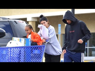 Kylie And Tyga Take King Cairo On Shopping Spree, Asked About Arrest Of Kim's Robbers