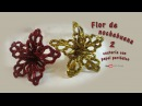 DIY Flor de nochebuena de papel periódico – DIY Flower of Christmas Eve basketry with newspaper
