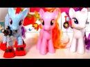 Мой маленький пони. Игрушки учат счет от 1 до 5. Видео на английском языке.