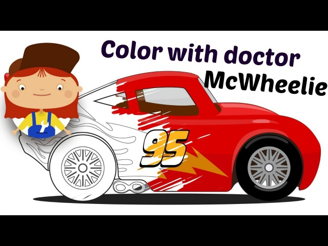 Learn colors with Doctor McWheelie. Compilation.