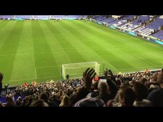 Aston Villa fans singing