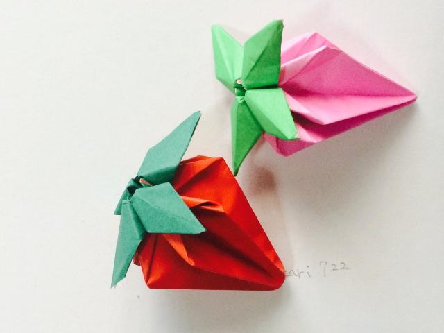 折り紙 「いちご」 How to make Origami Strawberry