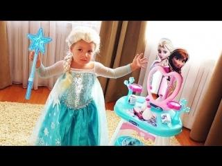 ✿ ПРИНЦЕССА ЭЛЬЗА и ВОЛШЕБНОЕ ЗЕРКАЛО Frozen Elsa Диана Эльза из мультик Холодное Сердце Frozen Elsa