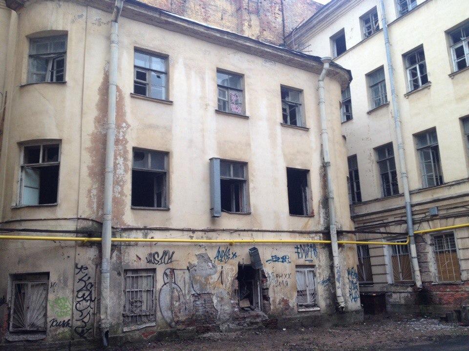 Заброшенное здание кулинарного техникума