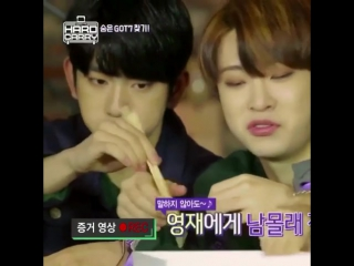 Jinyoung's mom instincts