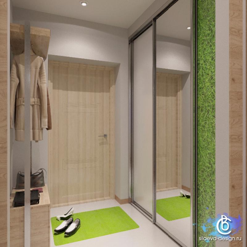Проект квартиры 33,5 м в эко-стиле.