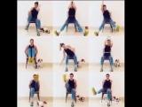 Тренировка дома со стулом