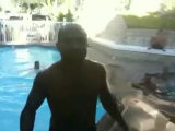 BJ Penn Jumps out of the Pool